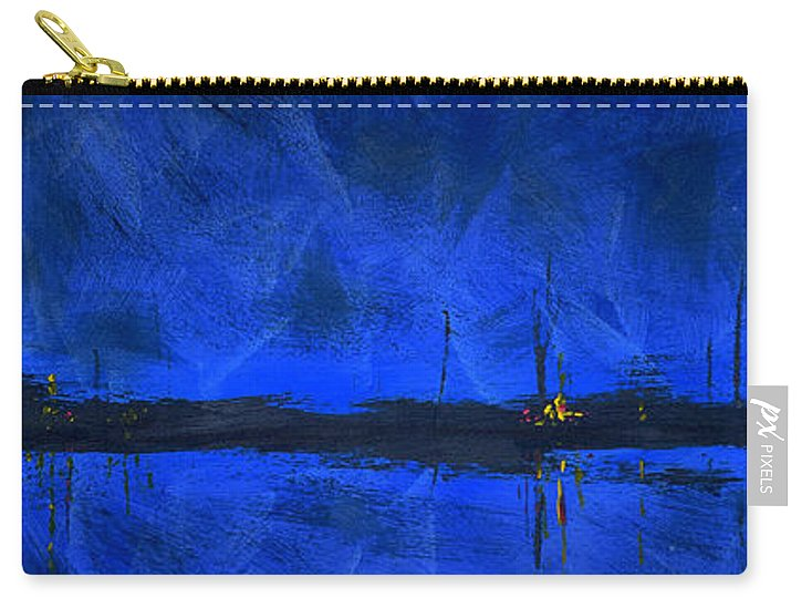 Deep Blue Waterfront At Night Triptych 1 Of 3 - Carry-All Pouch