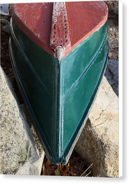 Old Wooden Painted Duxbury Skiff - Canvas Print