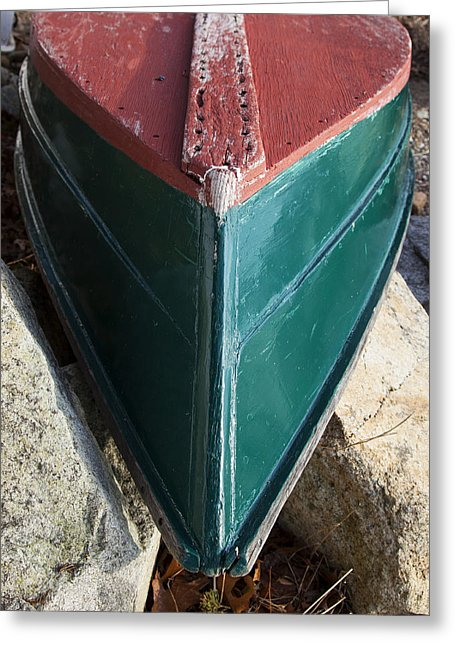 Old Wooden Painted Duxbury Skiff - Greeting Card