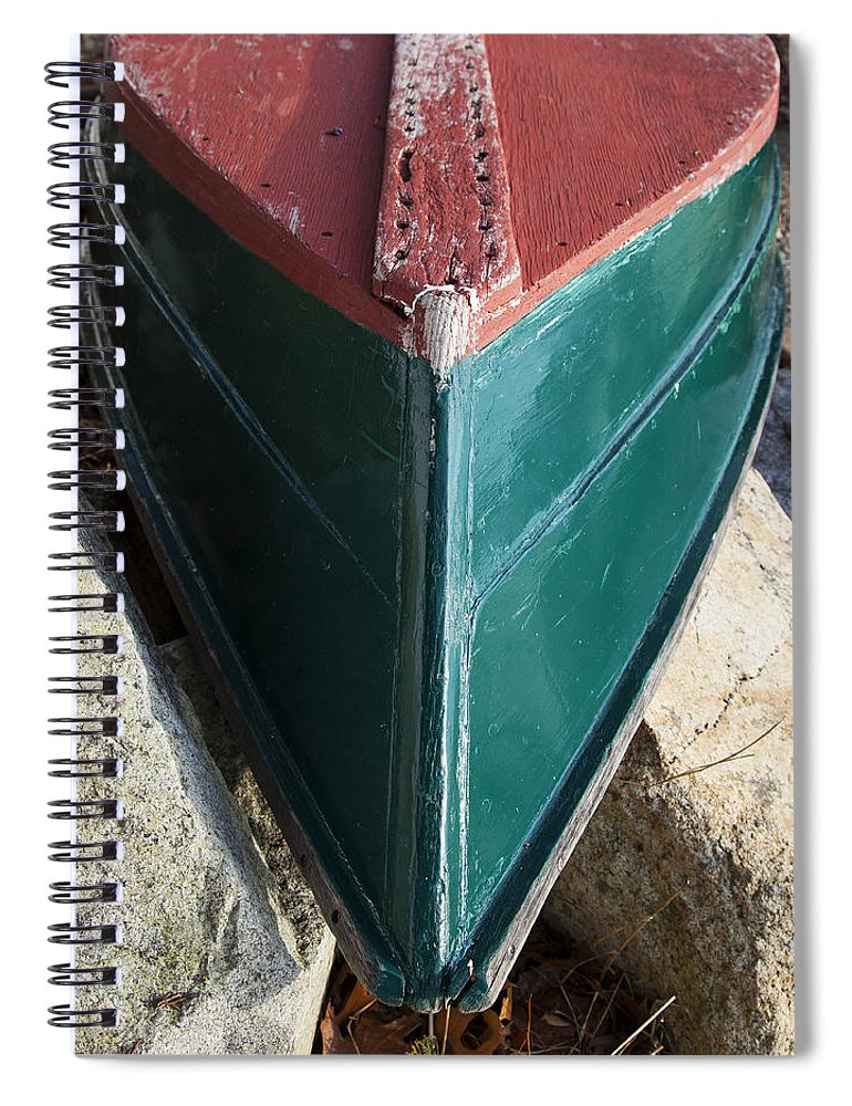 Old Wooden Painted Duxbury Skiff - Spiral Notebook