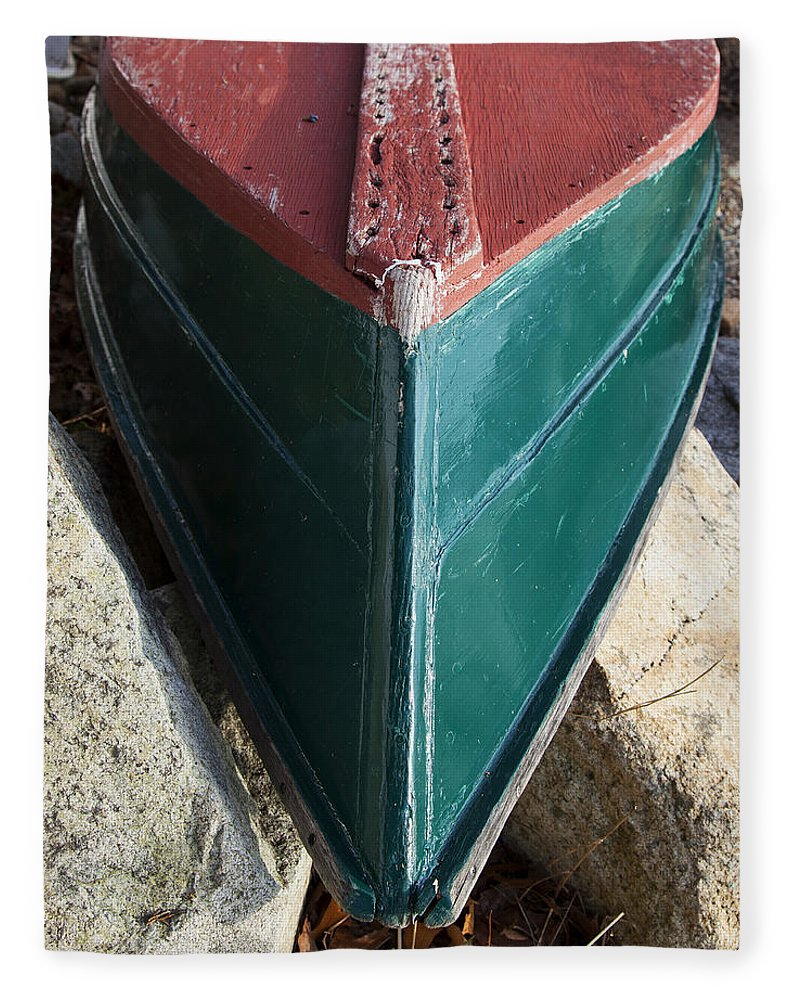Old Wooden Painted Duxbury Skiff - Blanket