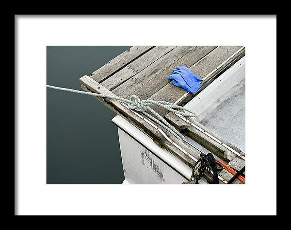 Edgartown Fishing Boat - Framed Print