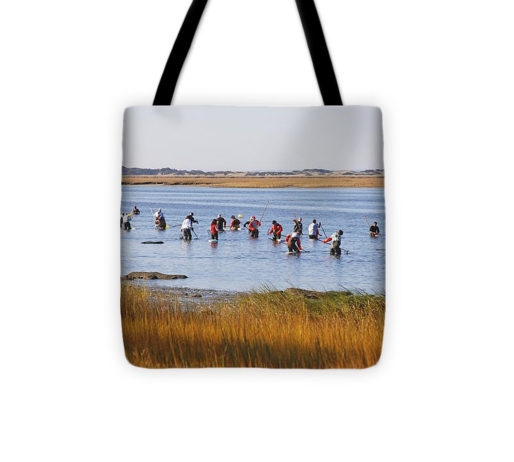 Fall Shellfishing For Barnstable Oysters - Tote Bag