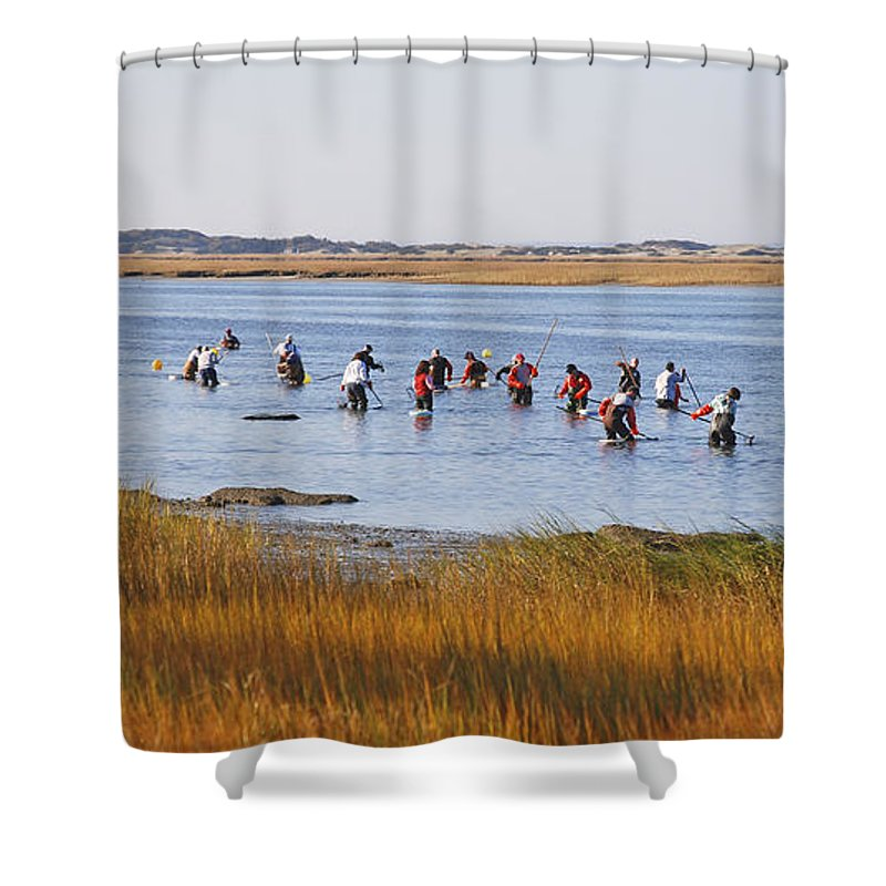 Fall Shellfishing For Barnstable Oysters - Shower Curtain