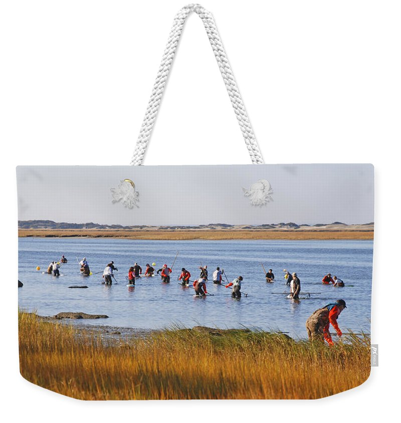 Fall Shellfishing For Barnstable Oysters - Weekender Tote Bag