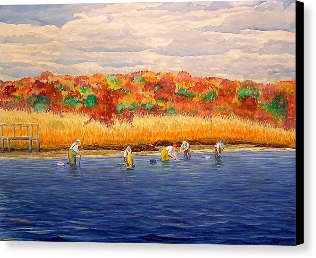 Fall Shellfishing In New England - Canvas Print