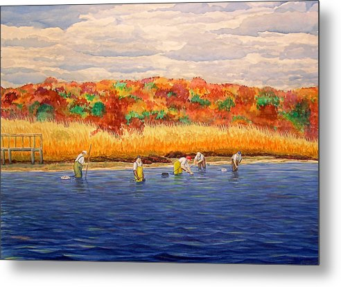 Fall Shellfishing In New England - Metal Print