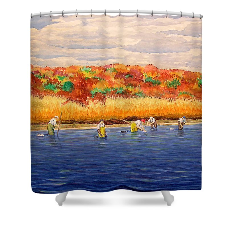 Fall Shellfishing In New England - Shower Curtain