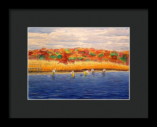 Fall Shellfishing In New England - Framed Print