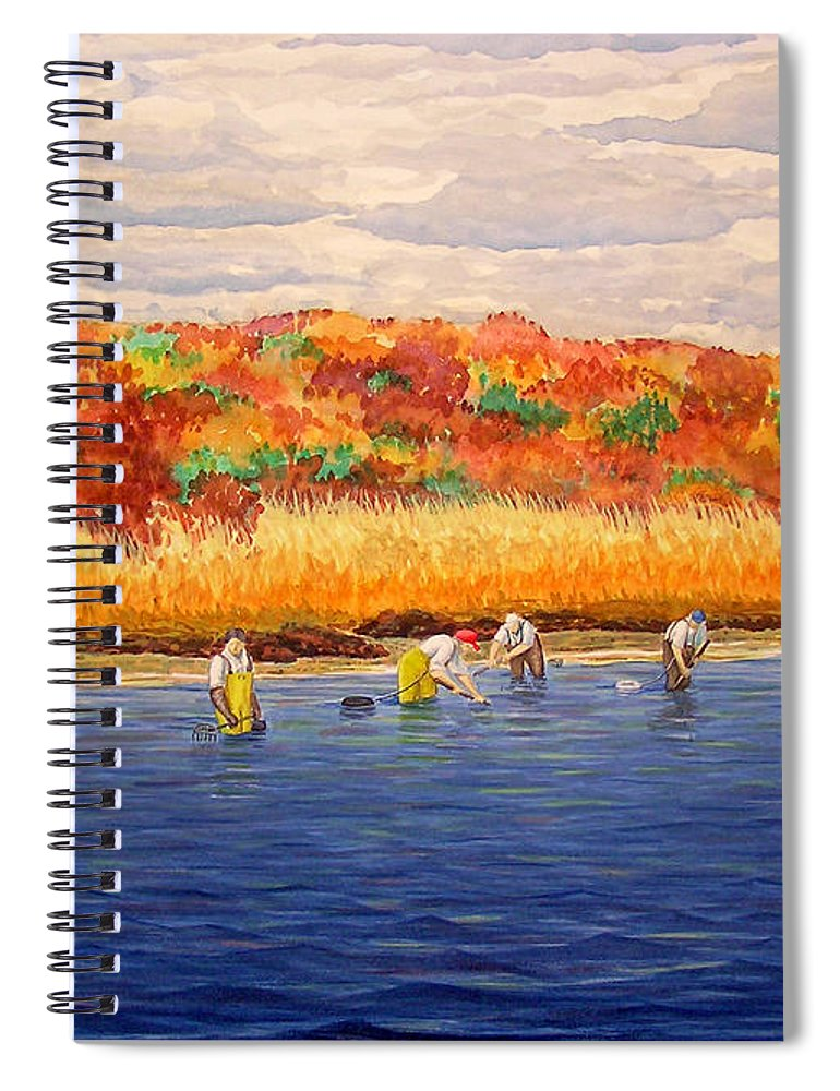 Fall Shellfishing In New England - Spiral Notebook