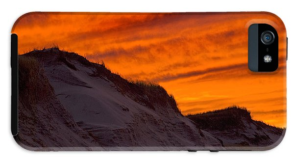 Fiery Sunset Over The Dunes - Phone Case