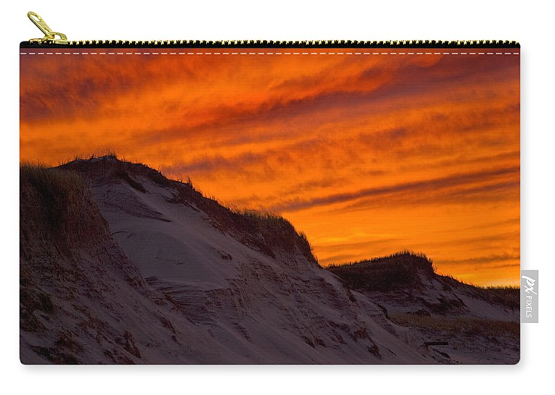 Fiery Sunset Over The Dunes - Carry-All Pouch