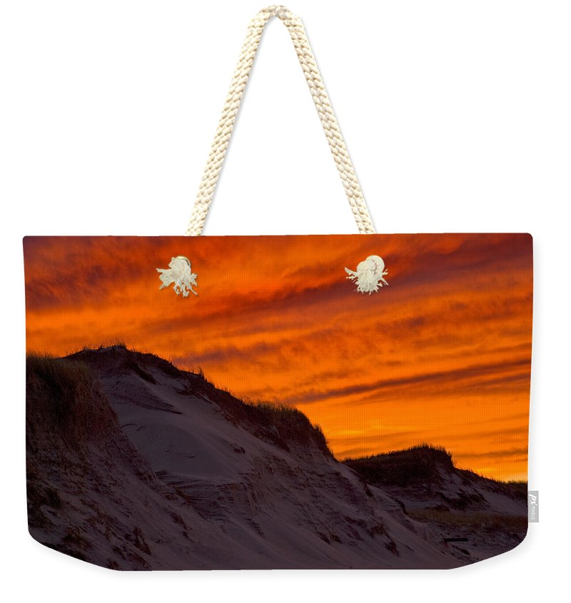 Fiery Sunset Over The Dunes - Weekender Tote Bag