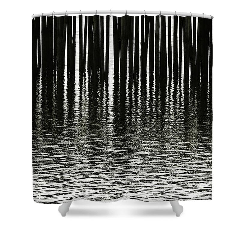 Fishermans Wharf Provincetown - Shower Curtain
