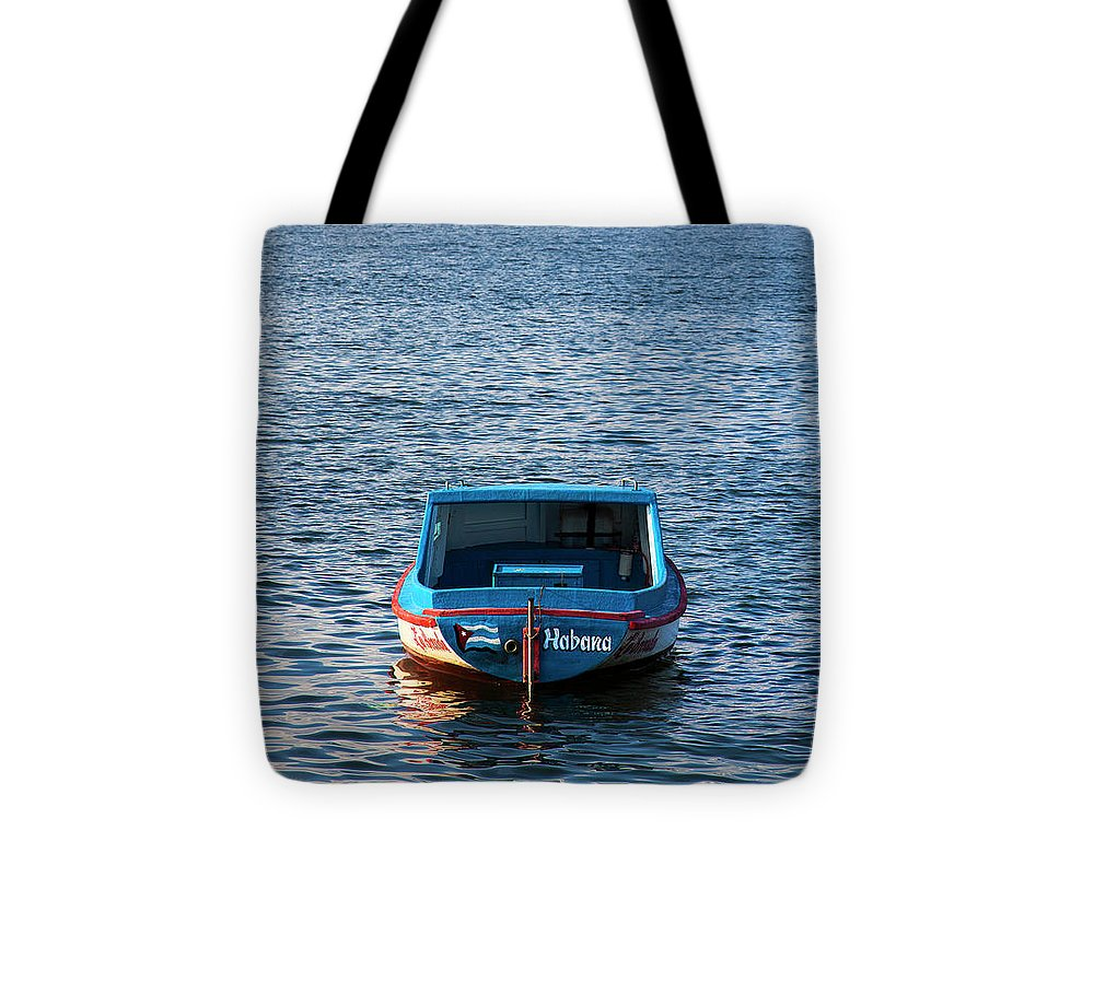 Fishing Boat At Morro Castle Havana Cuba - Tote Bag
