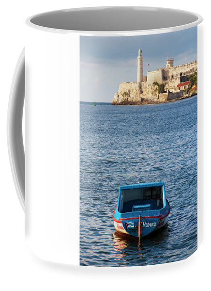 Fishing Boat At Morro Castle Havana Cuba - Mug
