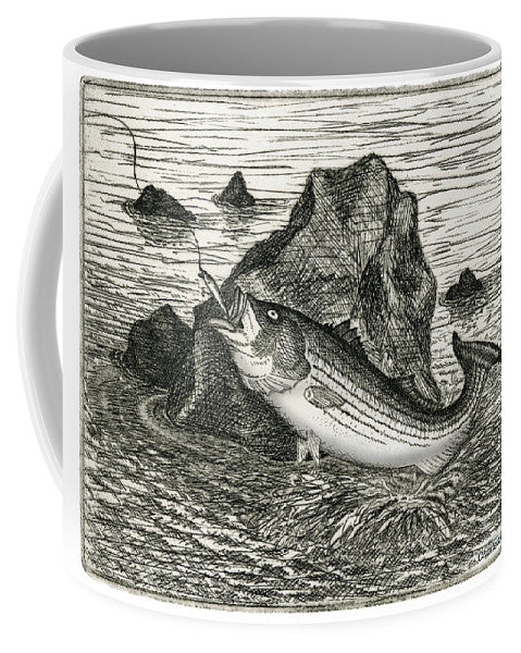 Fishing The Rocks - Mug