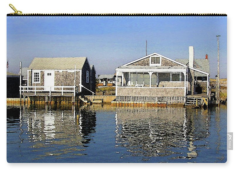 Fletchers Camp And The Little House Sandy Neck - Carry-All Pouch