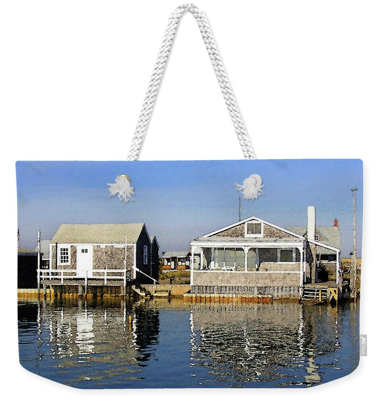 Fletchers Camp And The Little House Sandy Neck - Weekender Tote Bag