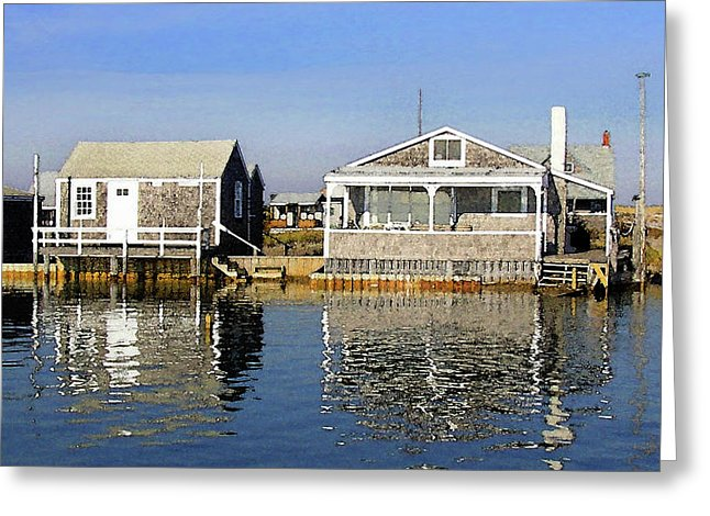 Fletchers Camp And The Little House Sandy Neck - Greeting Card