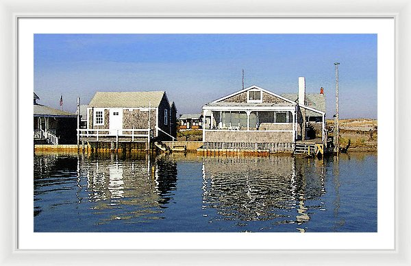 Fletchers Camp And The Little House Sandy Neck - Framed Print