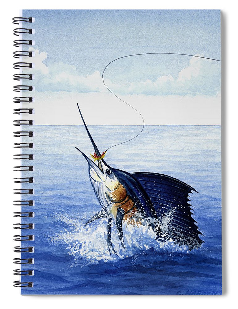 Fly Fishing For Sailfish - Spiral Notebook