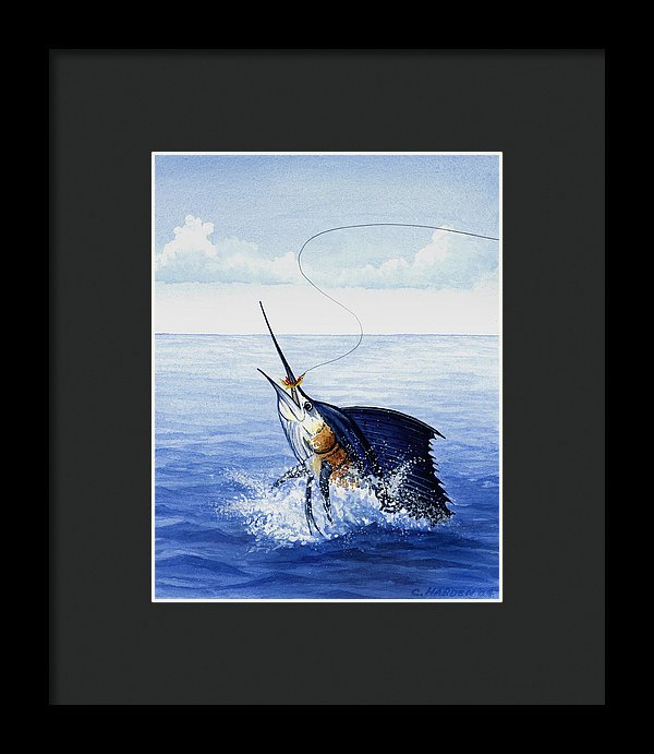 Fly Fishing For Sailfish - Framed Print
