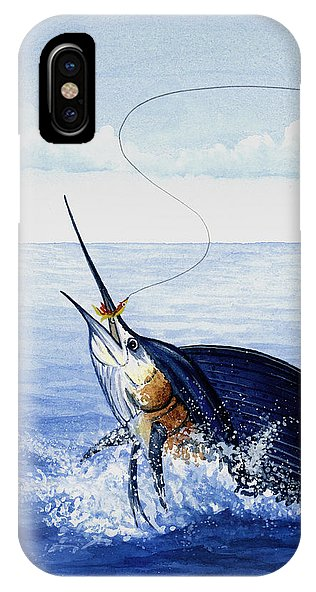 Fly Fishing For Sailfish - Phone Case