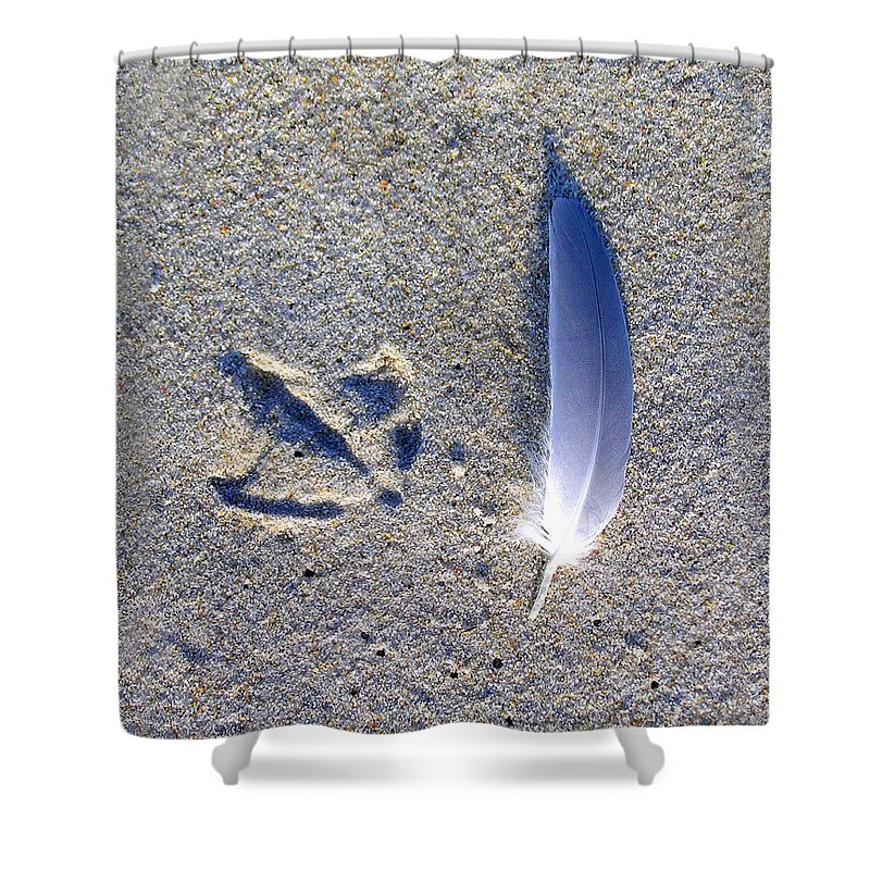 Footprint And Feather - Shower Curtain