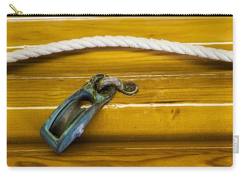 Fresh Varnish On Old Spars With Rope And Pulley - Carry-All Pouch
