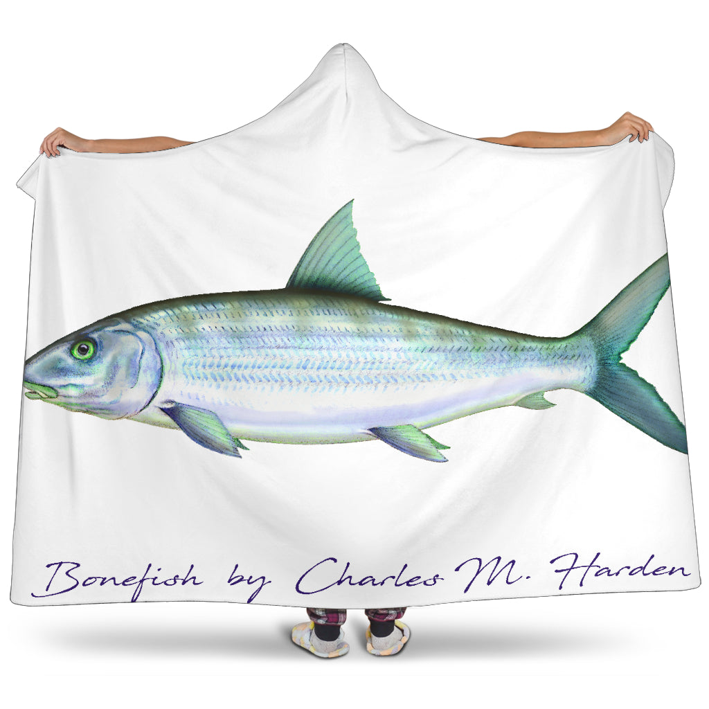 Bonefish Hooded Blanket