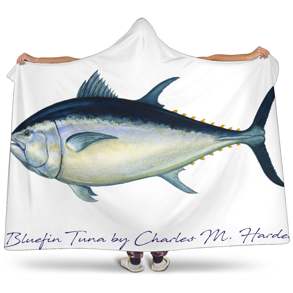 Bluefin Tuna Hooded Blanket