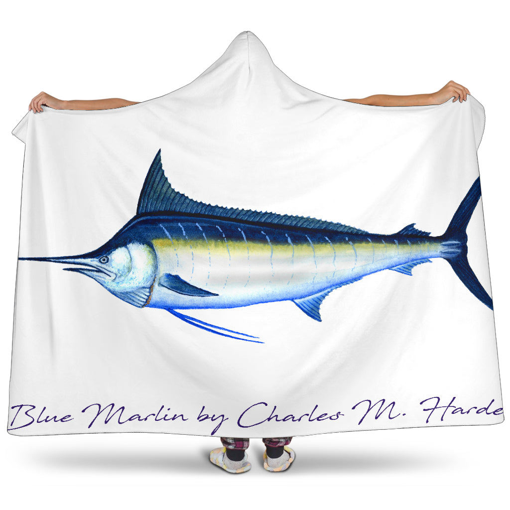 Blue Marlin Hooded Blanket