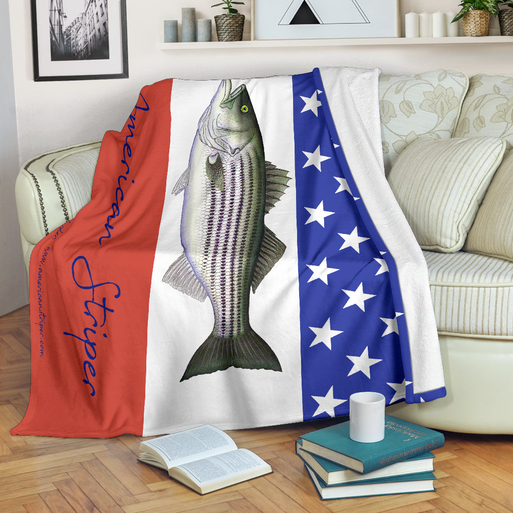 American Striper Striped Bass Fleece Blanket