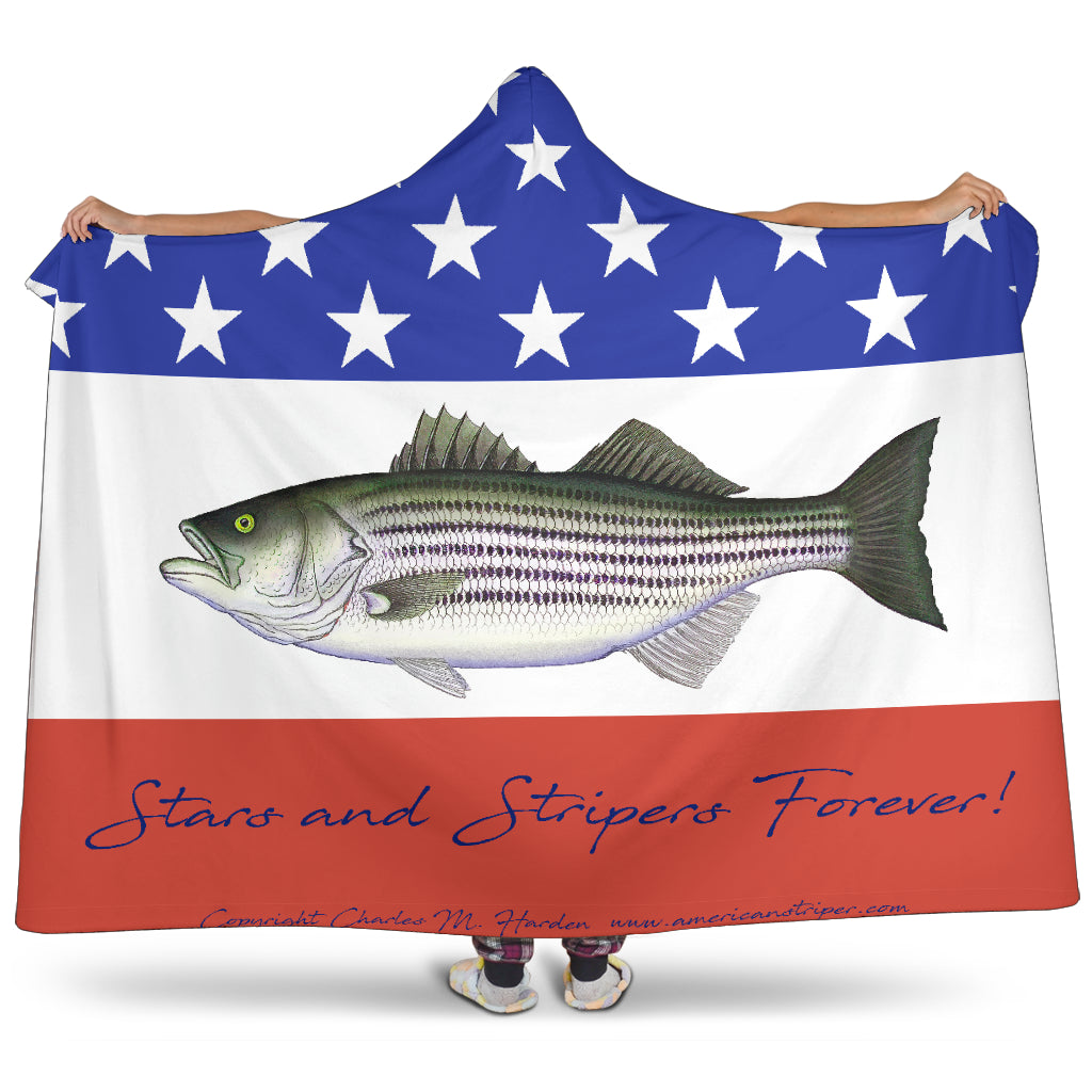 Stars and Stripers Forever Striped Bass Blanket