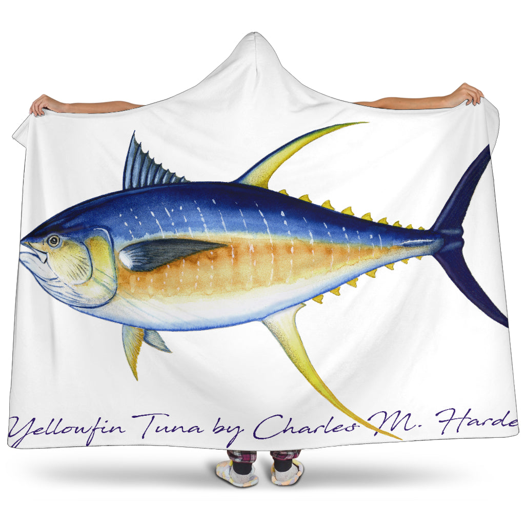 Yellowfin Tuna Hooded Blanket