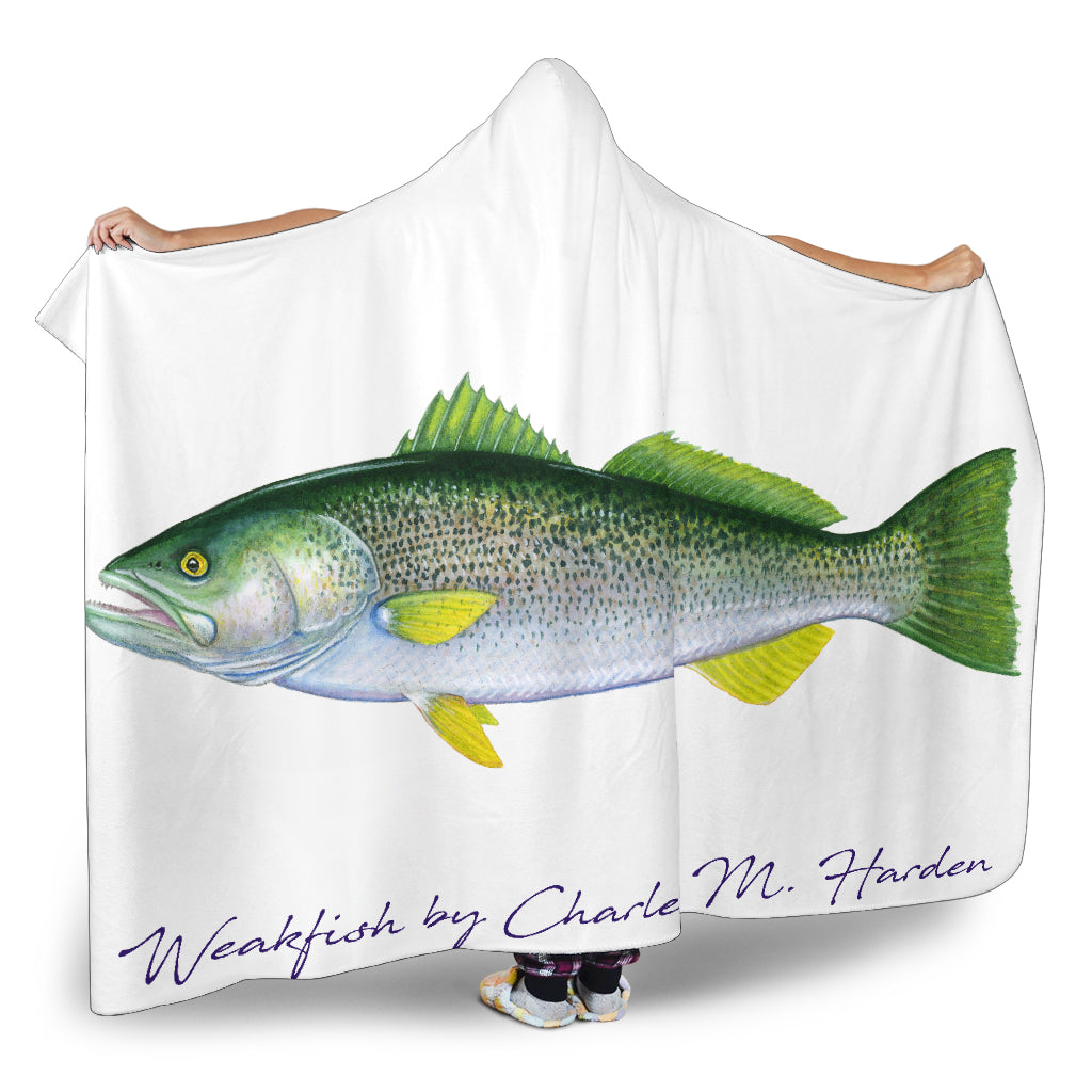 Weakfish Hooded Blanket
