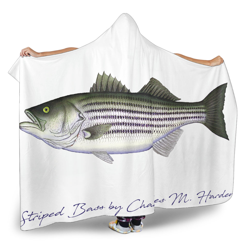 Striped Bass Striper Hooded Blanket