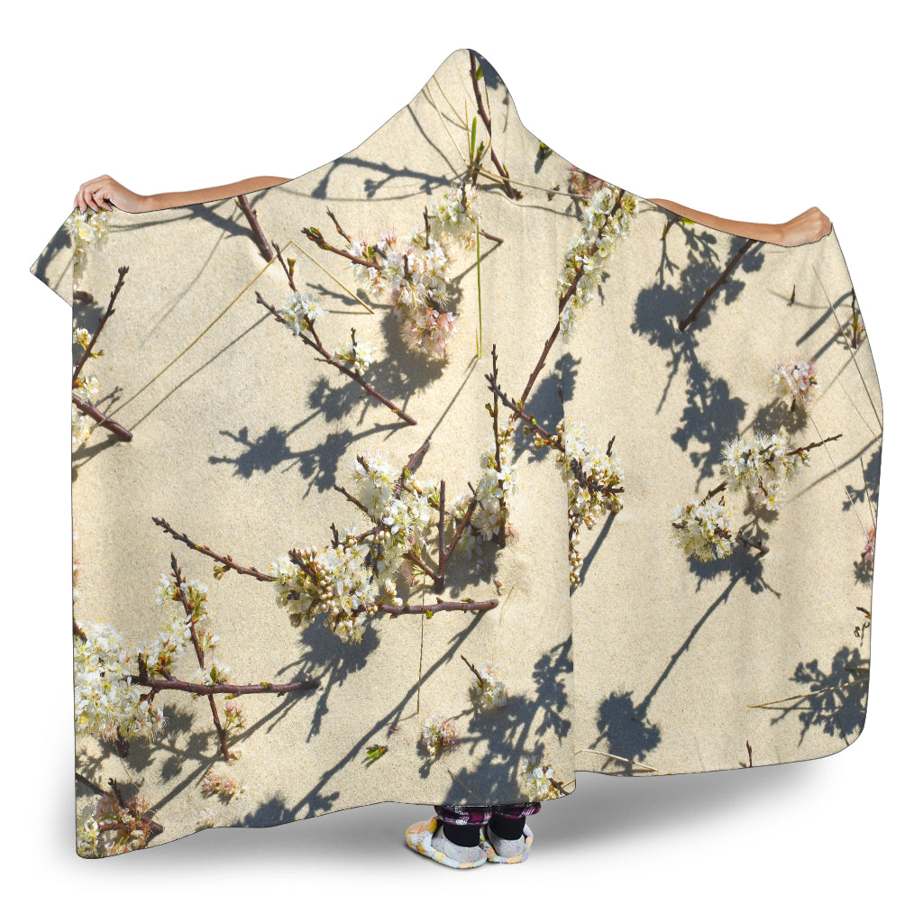 Dune Flowers Hooded Blanket