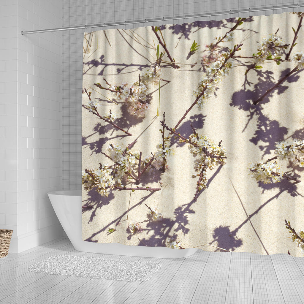 Tashmoo Beach Plum Blossoms Shower Curtain