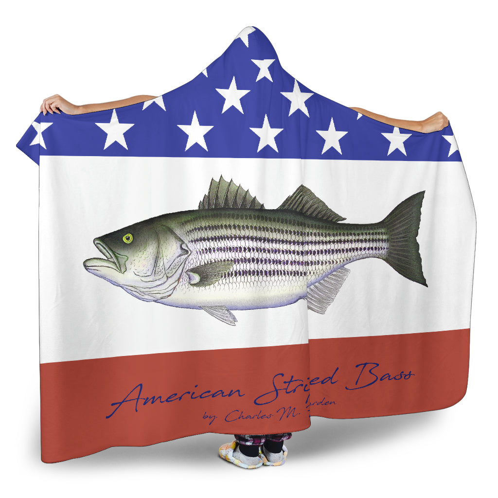 American Striped Bass Hooded Blanket