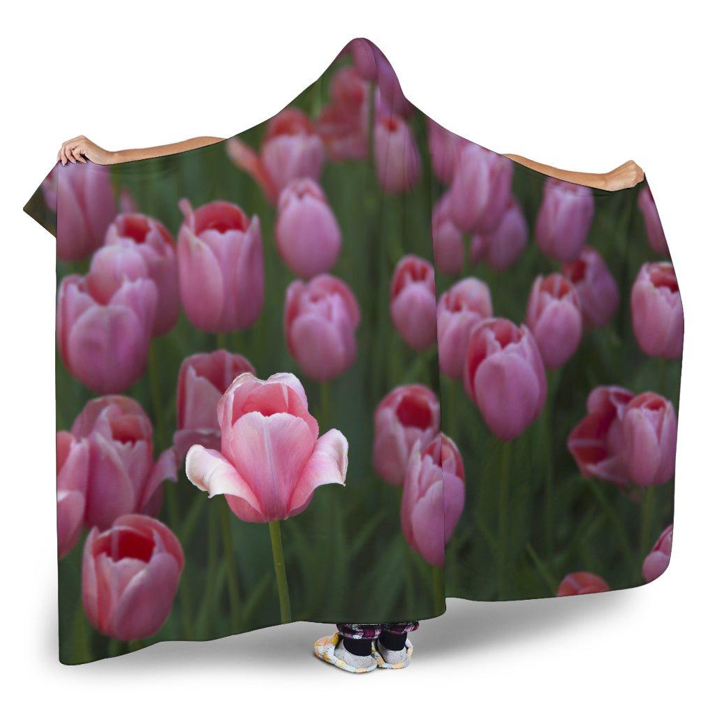Tulip Garden Hooded Blanket