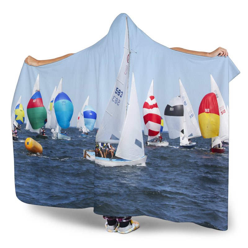 Sailing Race Hooded Blanket