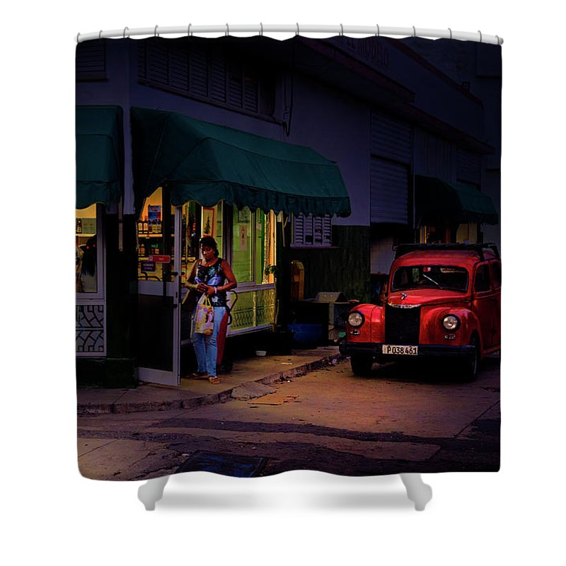 Gasolinera Linea Y Calle E Havana Cuba - Shower Curtain