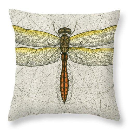 Golden Winged Skimmer - Throw Pillow