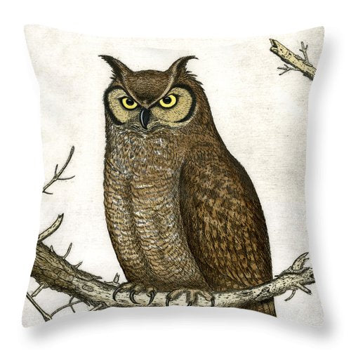 Great Horned Owl - Throw Pillow