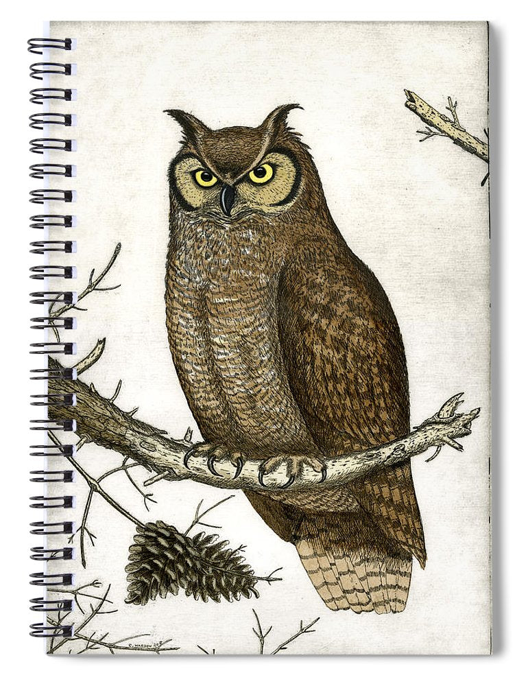 Great Horned Owl - Spiral Notebook