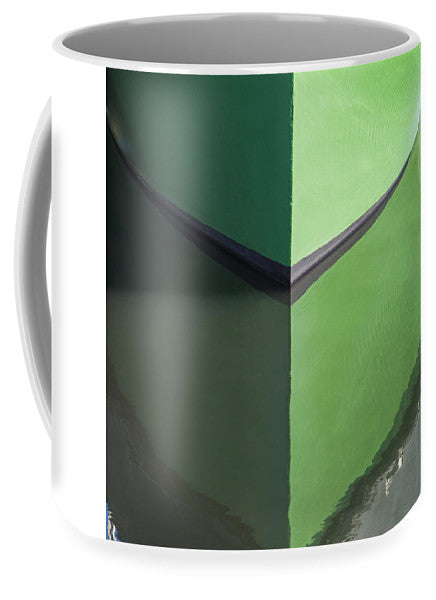 Green Boat Reflection - Mug