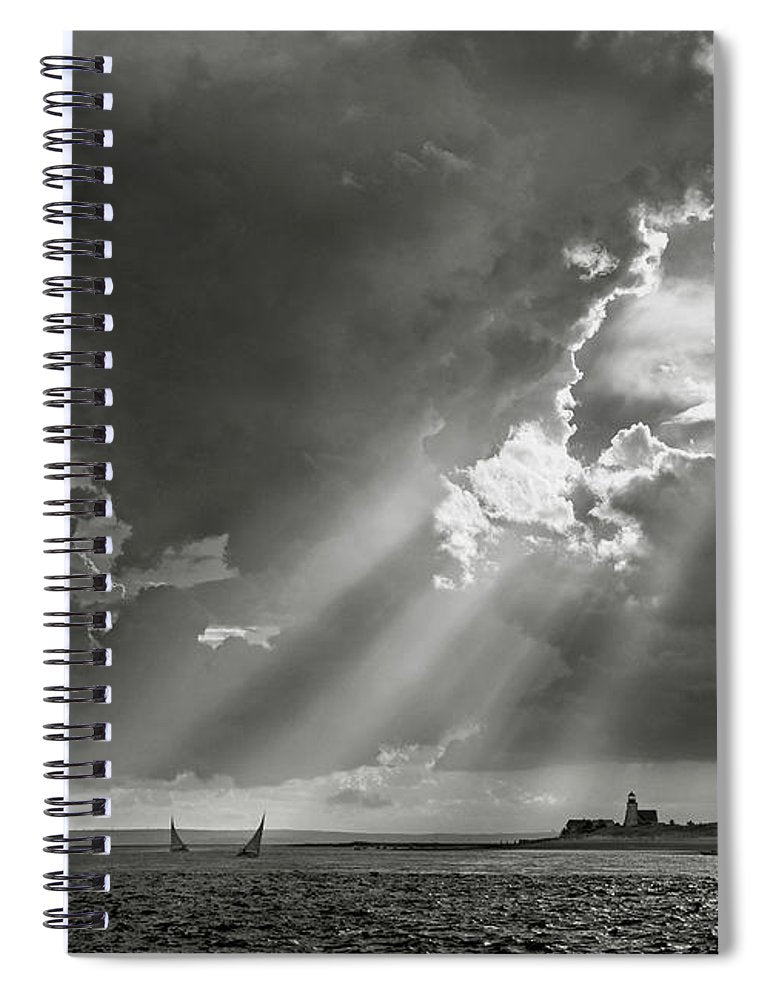 Barnstable Harbor Sail - Spiral Notebook