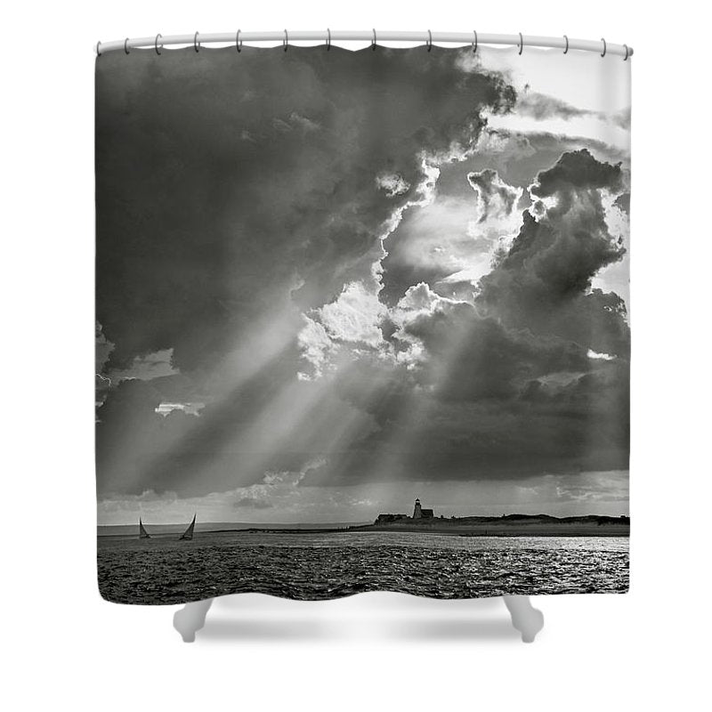 Barnstable Harbor Sail - Shower Curtain